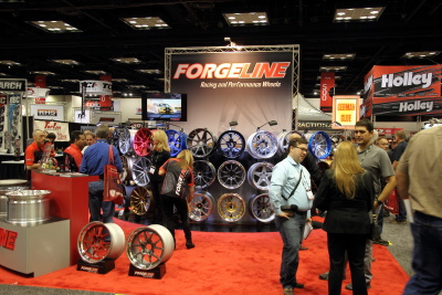 Forgeline Racing & Performance Wheels booth