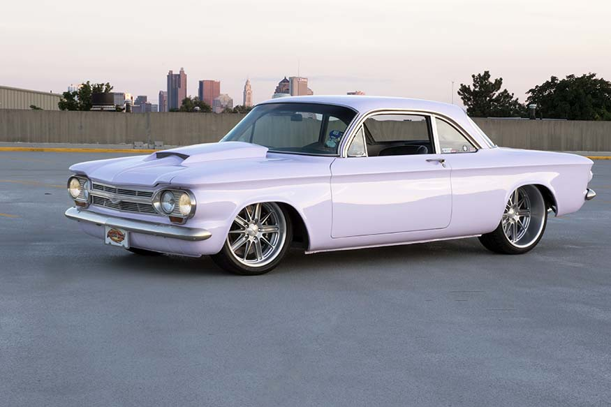 Carrie Strange's 1964 Chevy Corvair Front 3/4
