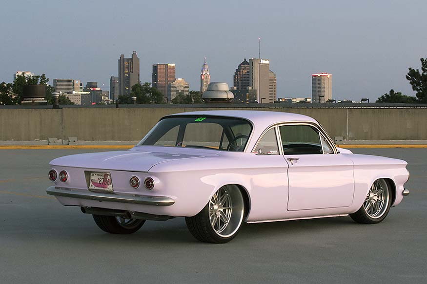 Carrie Strange's 1964 Chevy Corvair rear 3/4