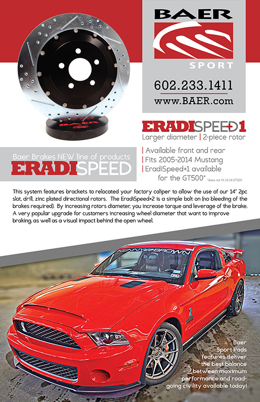 Flyer about EradiSpeed+1 front and rear rotors
