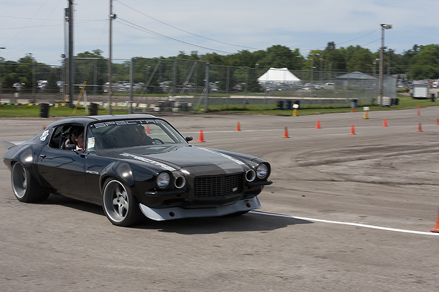 Brandy Morrow out in the Speed by Spectre 2nd Gen Camaro enjoying driving the Autocross