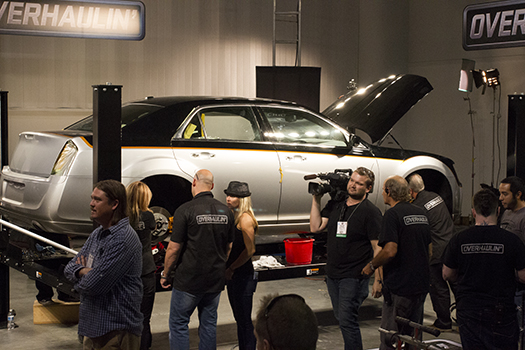 Jessi Combs on the set of Overhaulin' at SEMA